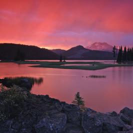 Sparks Lake sunset