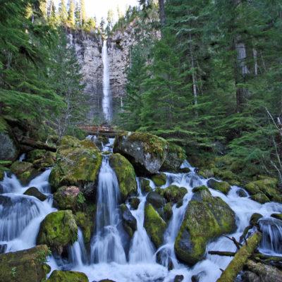 Watson Falls in southern Oregon.